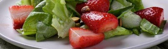 Strawberries on your salad